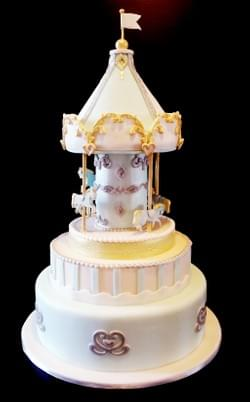 Mad About Sucre - Unicorn Carousel full month Baby cake