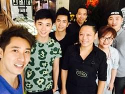 Dasmond Koh, Aloysius Pang, Xu Bin and Annie Chua at Mad About Sucre