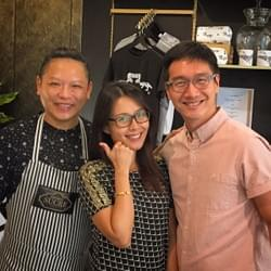 Mediacorp celebrity couple Pricilla Chen and hubby at Mad About Sucre