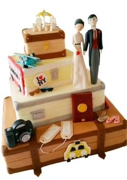 Mad About Sucre - Travel-themed Wedding cake