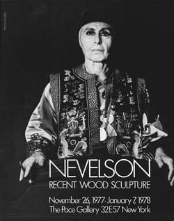 Invitation: Nevelson, Recent Wood Sculpture