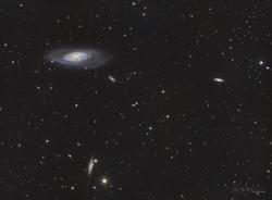 M106 and Surrounding Galaxy Field