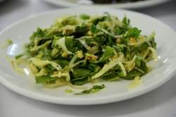 This is a salad called penny wort salad (Myin-Kwa-Ywet Thote) Thote means salad in Burmese. The penny wort salads can look different from place to place.