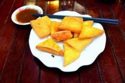 Fried tofu is usually consumed with Shan noodles,