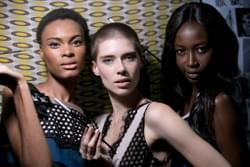 MBFWJ Shana & Stefania Morland for MAC Cosmetics shot by Aubrey Jonnson