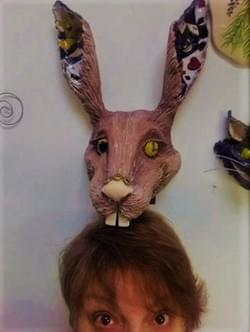 Wonderland/steampunk  hare head