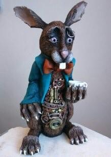 Steampunk brown rabbit
