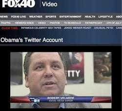 Talking about Twitter on Fox40