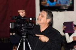 Jim Bellacera on the HD Camera with over  700 videos under his belt.
