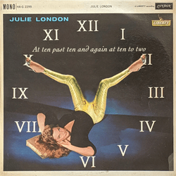 2019 Julie London album cover 'At ten past ten and again at ten to two'