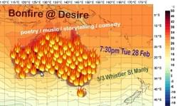 Bonfire @ Desire 'Hot, Hot, Hot' (Producer, front-of-house, poster design)