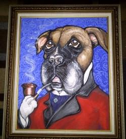 """Gus"" acrylic on canvas"