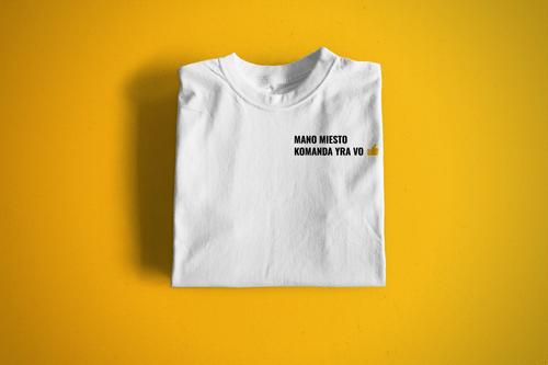 """Marškinėliai """"Mano miesto komanda yra VO"""""""