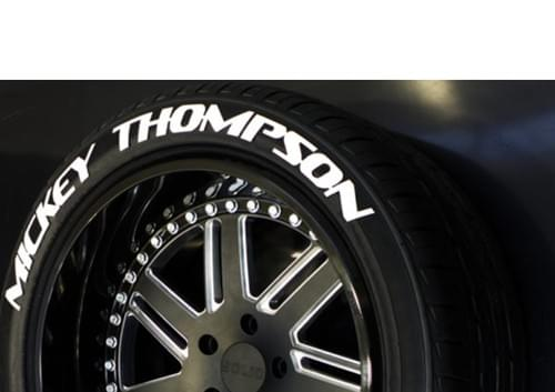 LETTRAGE POUR PNEU/TIRE LETTERS - MICKEY THOMPSON