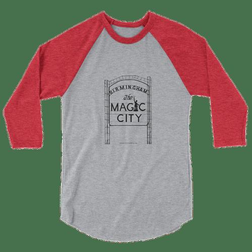 Ragland 3/4 Shirt Red/Gray