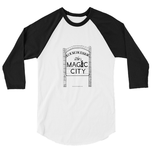 Raglan 3/4 Shirt Black/White