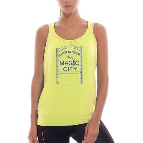 Magic City Women Racerback Yellow