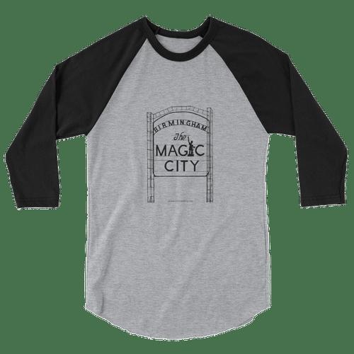 Ragland 3/4 Shirt Gray/Black