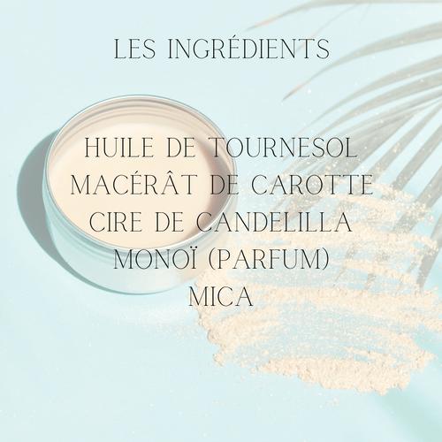 Crème scintillante au Monoï corps et visage