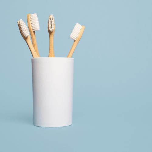 Pack 4 brosses à dent en bambou (Moyen)