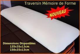 Traversin Mémoire de Forme  100 % viscoélastique