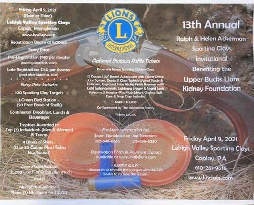 13th Annual Trumbauersville Lions Sporting Clays Event
