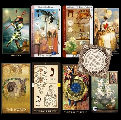 Various decks as is: Small Venetian, Kabbalistic and Tarot of Magical Correspondences