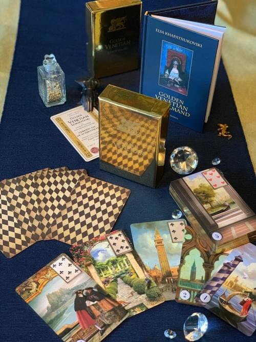 Special offer! The set of Golden Venetian Lenormand and Small Venetian Tarot.