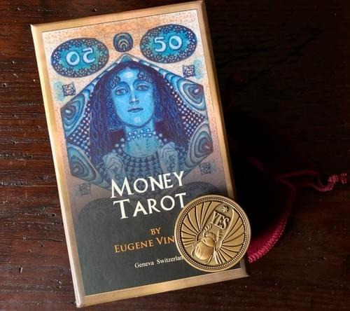 Special offer! The set of Money Tarot Cards and Decision Assistant Divination Coin.