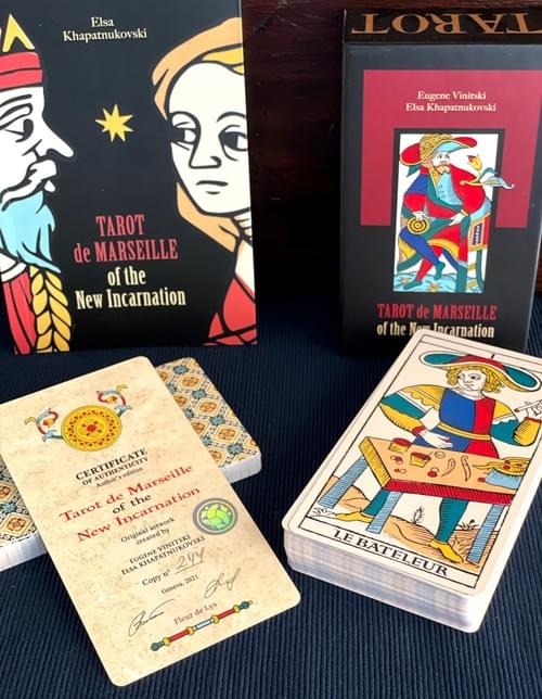 Tarot de Marseille of the New Incarnation, unique TdM type deck with Fully Illustrated Minors Arcana