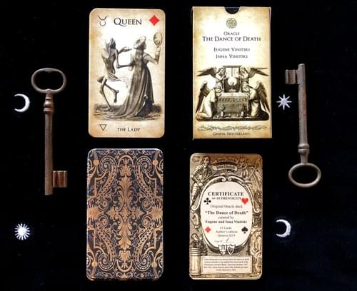 The Dance of Death Oracle cards, based on the lithographs of Hieronymus Hess