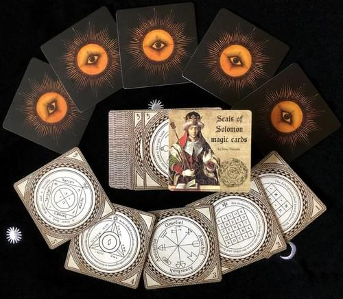 Seals of Solomon Magic Cards, Talismans of King Solomon, Key of Solomon the King, Kabbalistic Amulet