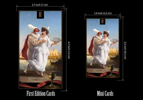 Small Venetian Tarot Deck Inspired by the History of Venetian Carnival.