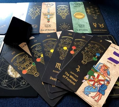 Kabbalistic Tarot 5781 Deck, Unique Illustrated Occult Kabbalah Cards, Color edition