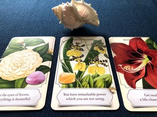 Inner Garden Oracle Cards with Healing Stones, Gemstone Oracle Deck