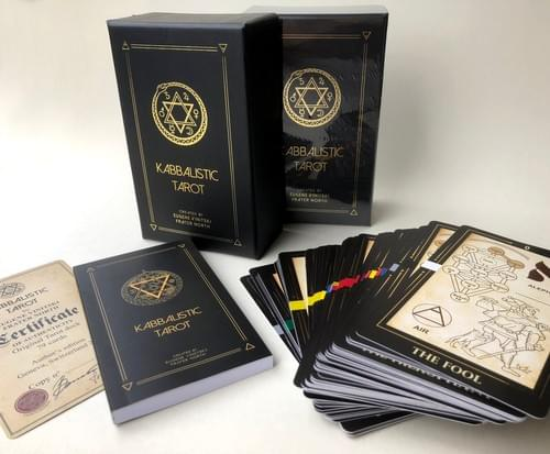 Repackaged Kabbalistic Tarot Deck. Divination Tarot Cards for Prediction and Meditation.