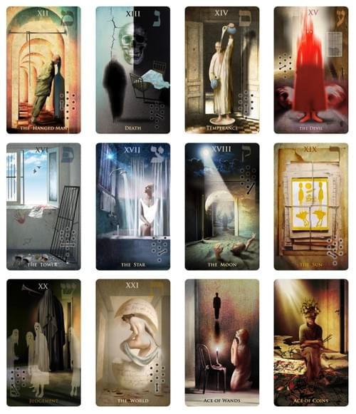 Madhouse Tarot Deck, Unique Illustrated Occult Cards for Prediction, Metaphoric cards of Association