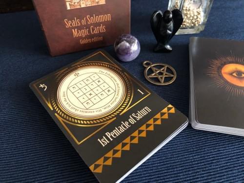 Seals of Solomon Magic Cards, Golden Edition, Talismans of King Solomon, Kabbalistic Amulet