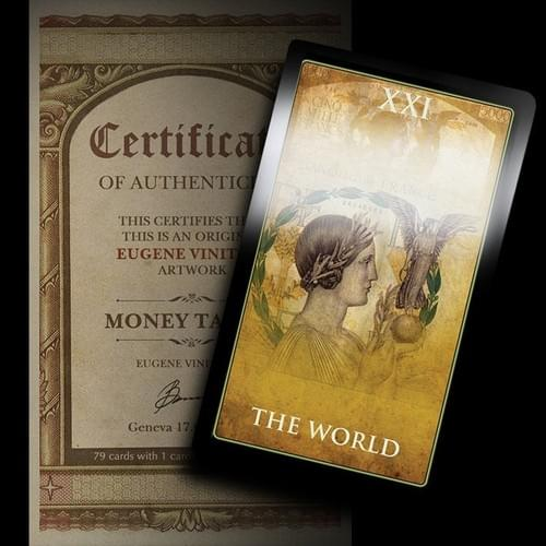 Money Tarot cards for business and financial Tarot Reading based on various world currencies.