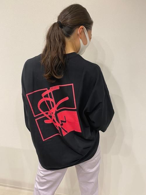 長袖Tシャツ (Black & Pink)