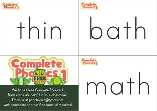 Complete Phonics 1 Flashcards