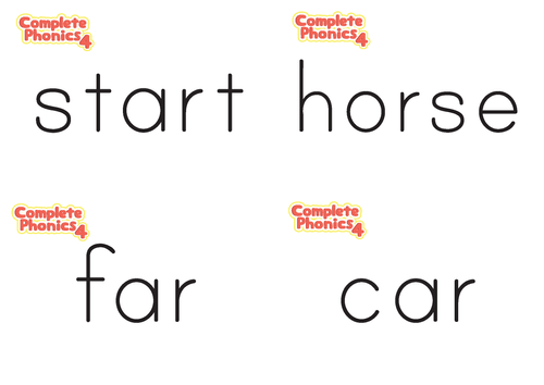 Complete Phonics 4 Flashcards