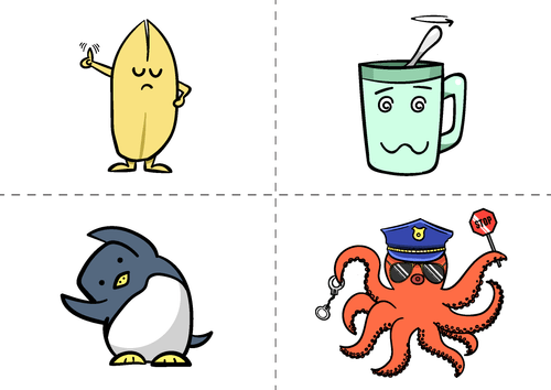Character Flashcards(A6 Size)