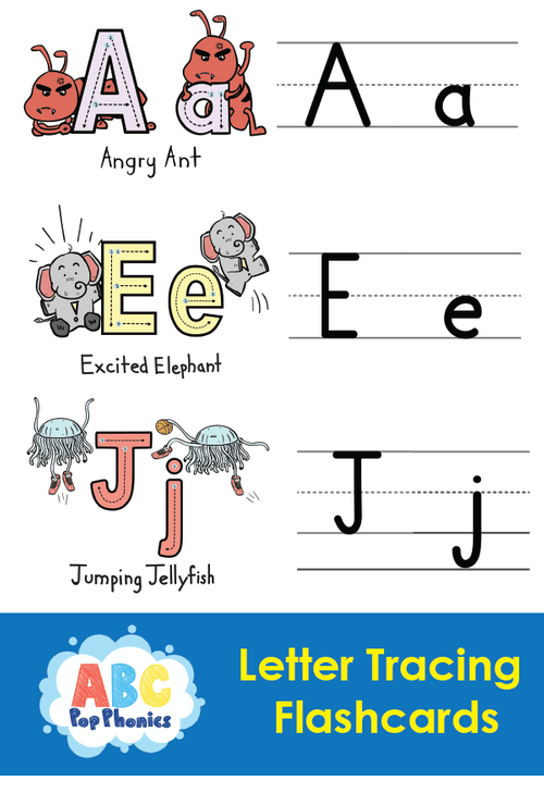 ABC Pop Phonics Letter-tracing Flashcards