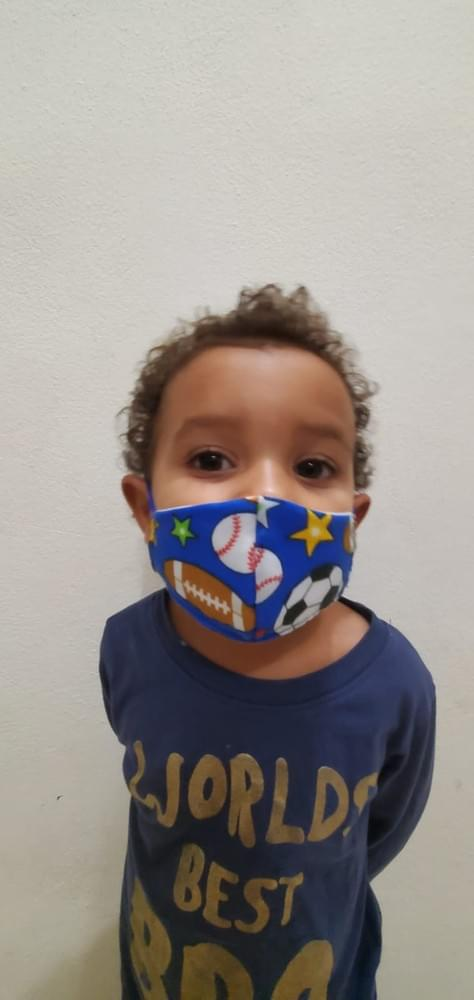 Child's washable, 3 Ply, Non Medical, Facial Mask (production overrun)