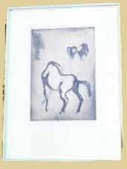 """Horses""  Etching #114"