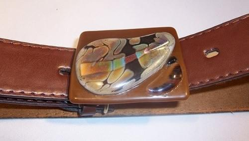 "Leather Belt #1819 (21-1/2 to 35-1/2"" waist or hip-hugger)"