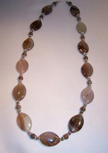 #1964  Agate, Opal, Jasper Necklace
