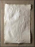 """Three Graces""  Cast Handmade paper #162"