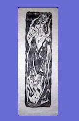 """The Prophet""  Woodcut  #163"